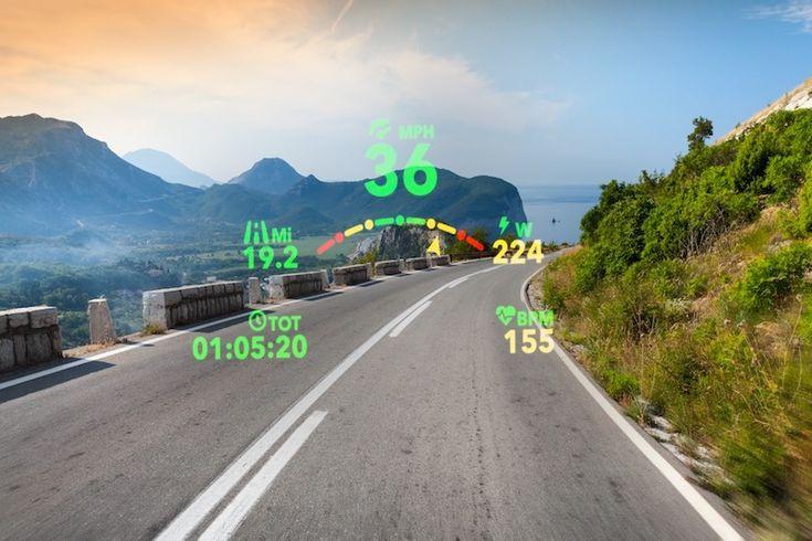 Ochelari Inteligenți pentru Bicicletă ce oferă Informații ca Unui Pilot de Vânătoare