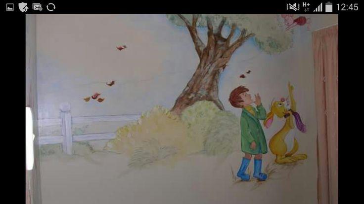 Winnie the Pooh  - Mural work by Mandy