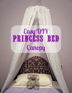 Easy DIY Princess Canopy from Creative Ramblings // creativeramblingsblog.com