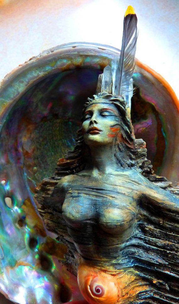 Spirit Woman Talking Stick Ceremonial Earth by ShapingSpirit