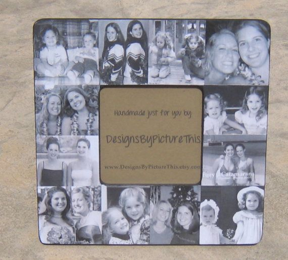 "Personalized Sister Gift, Maid of Honor Picture Frame, Custom Collage Bridesmaid Frame, Bridal Shower Gift Frame, Parent Gift 8"" x 8"""