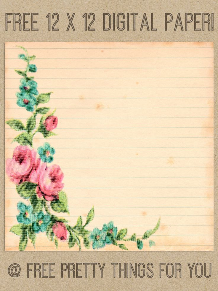 Scrapbook: Free Lovely Vintage Digital 12x12 Paper - Free Pretty Things For You