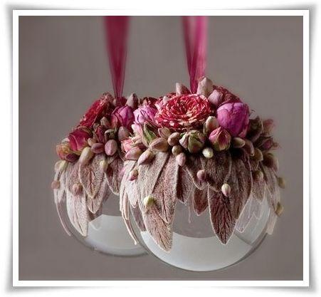 Finaste julkulan // Floral Ornaments   Svenska Blomsterbloggar: Finaste julkulan // Floral Ornaments