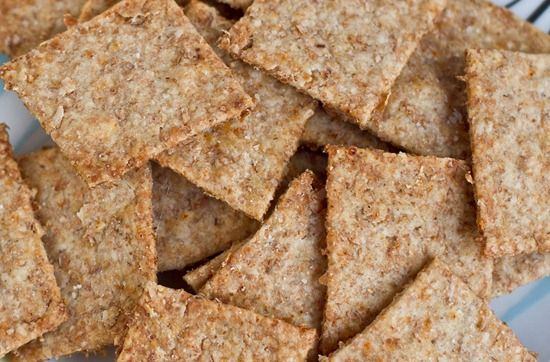 Homemade wheat thins. Relatively wholesome and include both paprika & vanilla!  #vegetarian #snacks