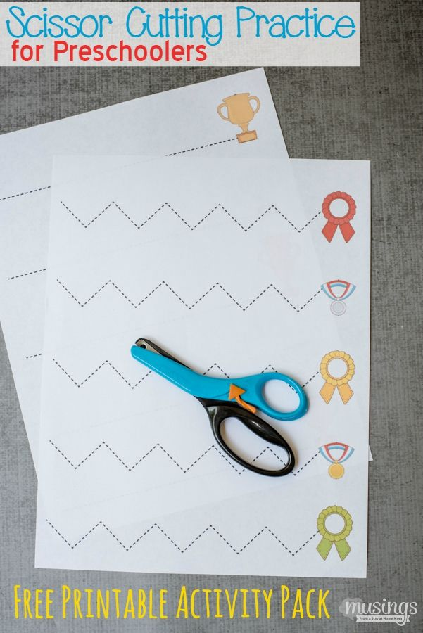 Here's the perfect Scissor Cutting Practice for Preschoolers. Even older kids will enjoy this fun activity as they fine-tune their scissors skills! #sponsored with Fiskars | Grab your Free Printable Activity Packet here:
