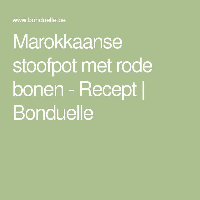Marokkaanse stoofpot met rode bonen - Recept | Bonduelle