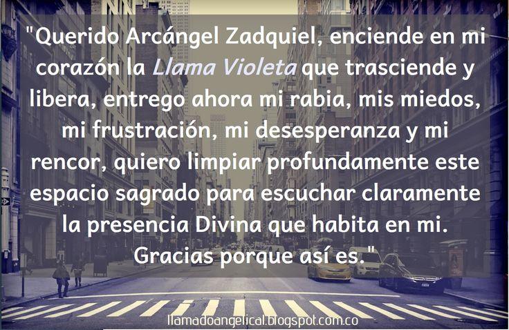 Llama violeta | Arcángel Zadquiel | Llamado Angelical