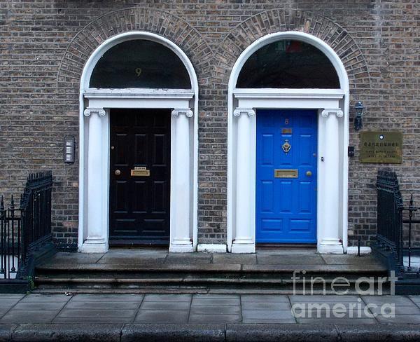 Blue and Black Door