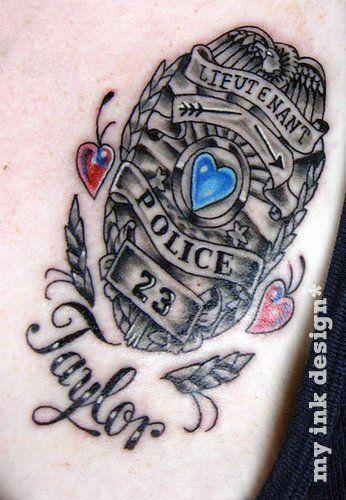 law enforcement tattoos designs aristotles blog police tattoo thin blue line. Black Bedroom Furniture Sets. Home Design Ideas