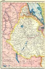 Эфиопия. Эритрея Абиссинии французское Сомали Джибути. - хармсуорт 1920 карта