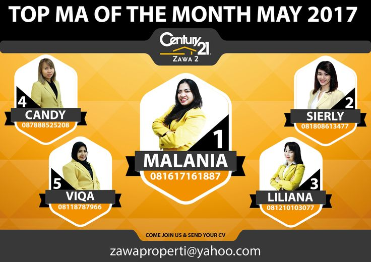 "TOP MA OF THE MONTH CENTURY 21 ZAWA 2 ""MAY 2017"""