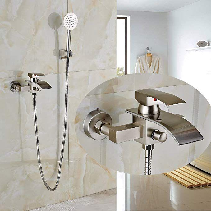 Rozin Bathroom Wall Mounted Tub Faucet With Handheld Showerhead