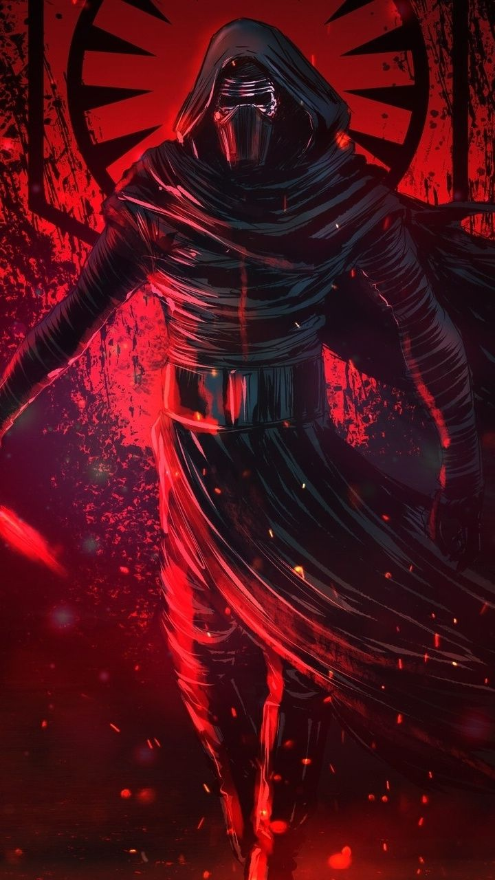 Artwork, star wars, villain, Kylo Ren, 720x1280 wallpaper