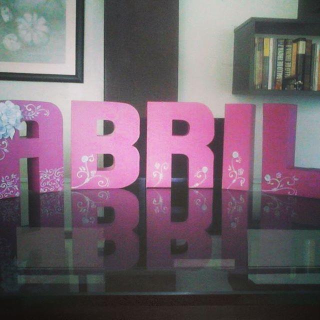Letras 3D. #misdiseños #misdibujos #cosasquehago #letras3D #littlegirl #babygirl #name #Abril #arteparababés #babyart #nacimiento #dulceespera #bebita #letters #3dletters #cartonaje #A #letraA #letterA #B #R #I #L