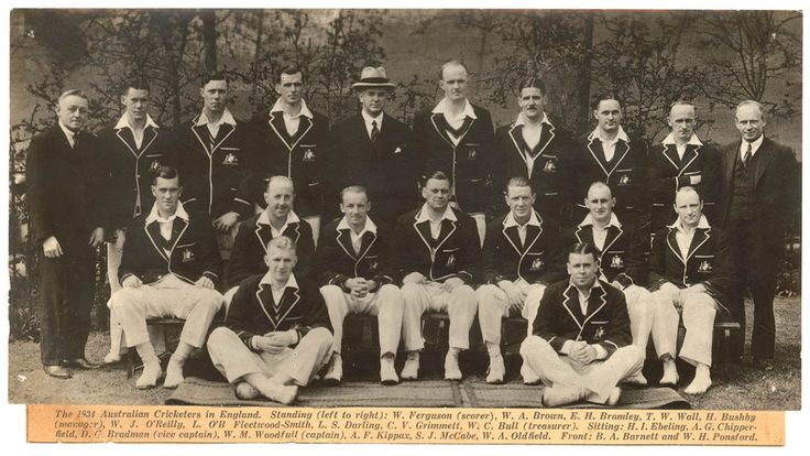 Australian Team to tour England, 1934. From the Davis Sporting Collection, Mitchell Library, State Library of New South Wales: http://www.acmssearch.sl.nsw.gov.au/search/itemDetailPaged.cgi?itemID=52516
