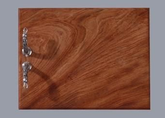 Pewter Hand crafted. Diana Carmichael Design. Board Small 22.5x17.5cm Crystal Clear  - Crystal d'Afrique. GoodiesHub.com