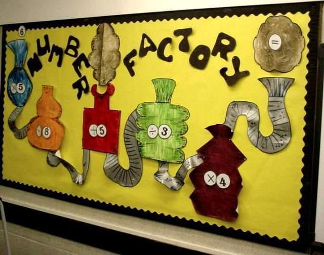 A fun and quirky maths display… Thanks to Primary Displays for the photo. I could see this working really well as a challenge for early finishers or daily morning maths tasks.