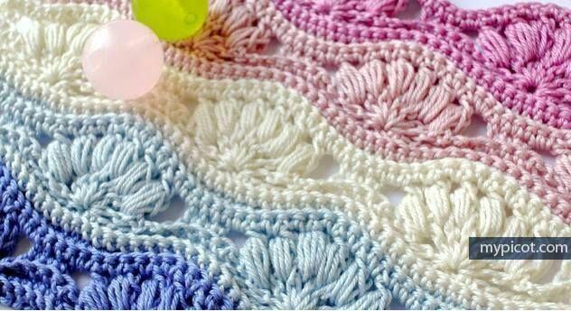 Patrón #1371: Punto Calado a Crochet | CTejidas [Crochet y Dos Agujas]