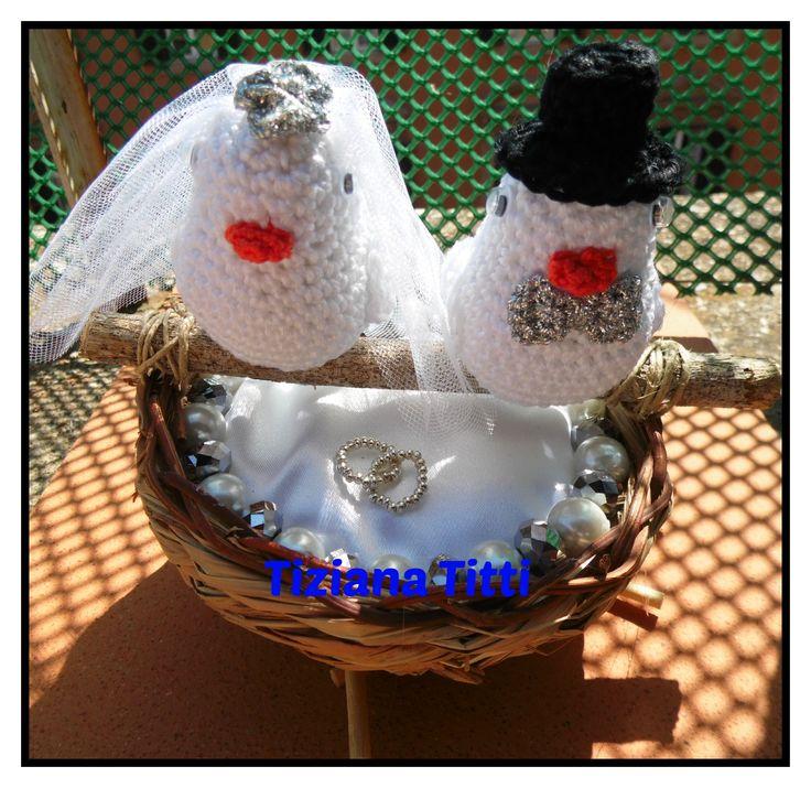 uccellini sposini bird bride e groom