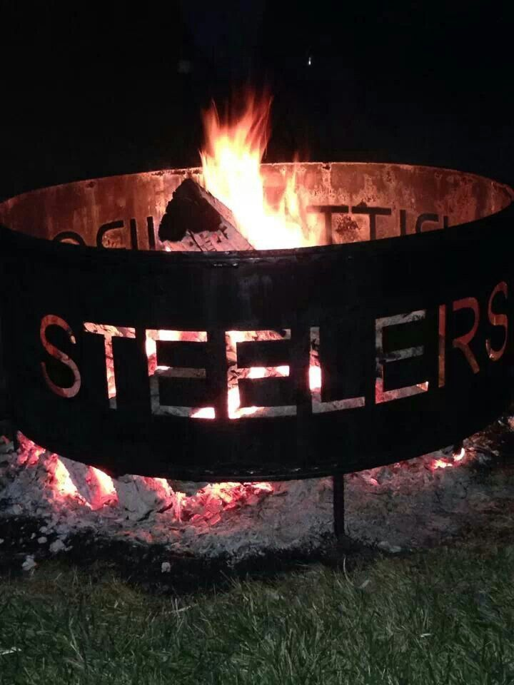 Pittsburgh steelers fire pit ring