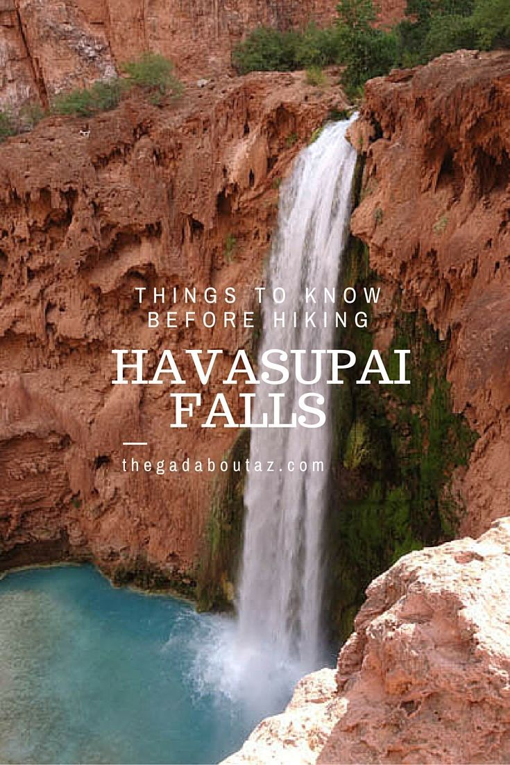 Havasupai Falls:  An Oasis in the Desert.  Find out why you should visit these falls and what you need to know before you do.  If Havasupai Falls isn't on your bucket list, it should be!  // http://thegadaboutaz.com