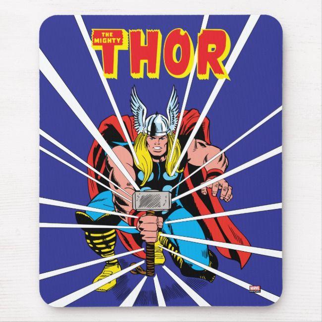 Officially Licensed Original Marvel Artwork Retro THOR Thors Hammer 4 x