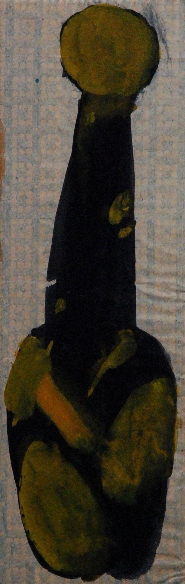 Lubomir Blecha, design for glass vase, 1960, aquarelle on paper, M: 39,5 x 13,0 cm, UMPRUM Prague