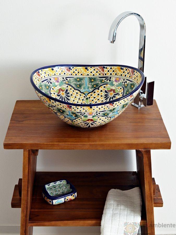 Belleza - MEX 7 Aufsatzwaschbecken oval aus Mexiko von Mexambiente