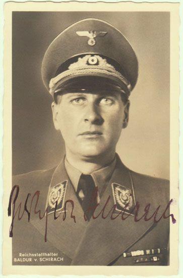 Baldur V. Schirach, a particularly handsome Nazi.  (*´∀`*)