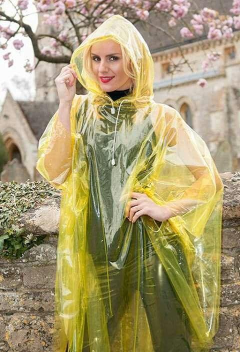 Plastic poncho | capes | Plastic raincoat, Pvc raincoat ...