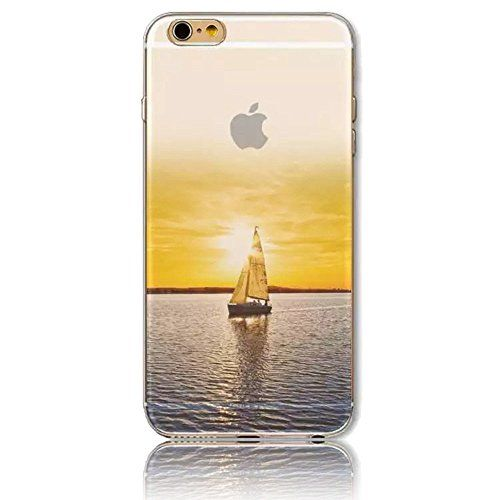 3D Créatif Coque pour iPhone 6/6S, Sunroyal® Etui Transparent TPU Silicone Case Cover Ultra Mince Prime Flex Skin Protection Pare-Chocs…