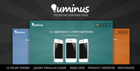 Luminus - Product Oriented Landing Page