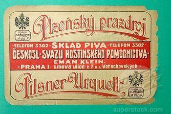 Vintage Pilsner Urquell Label.