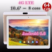 Wish | 10.6 Inch Octa-Core 4GB+64GB Android 5.1 Dual Sim Phone Pad Tablet PC Phablet