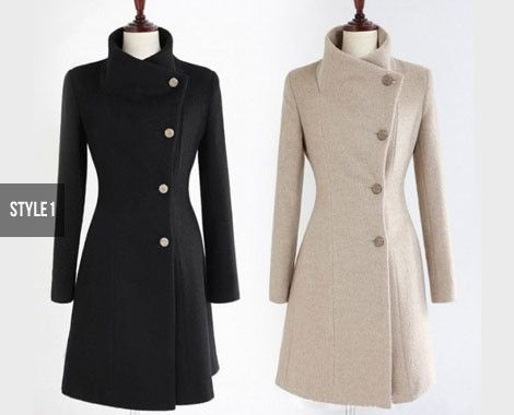 $58 for a Women's High Collar Winter Coat - Available in Two Styles