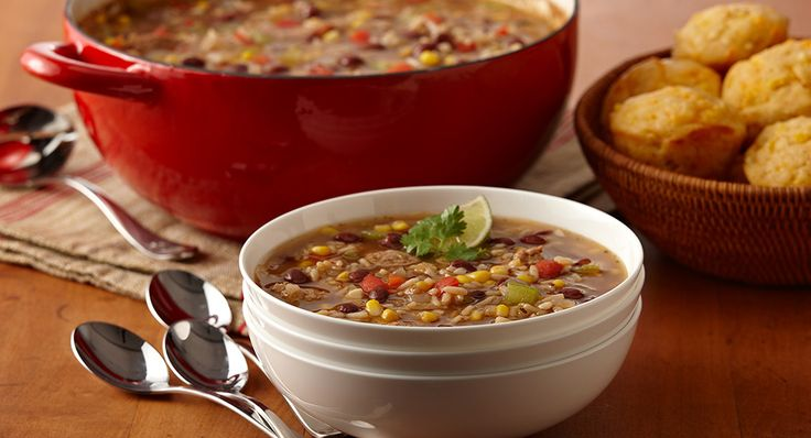 Flavorful soup in 20 minutes? Yes, with Zatarain's Red Beans and Rice, andouille sausage and vegetables on hand, you can have a hearty soup on the table in no time.
