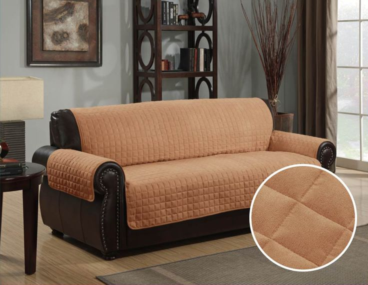 Micro Suede Furniture Pet Dog Couch Protector Camel U2013 3 Sizes