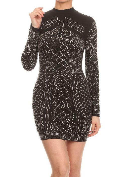 Please Elaborate Studded Dress
