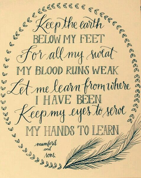 Below My Feet ~ Mumford and Sons <3
