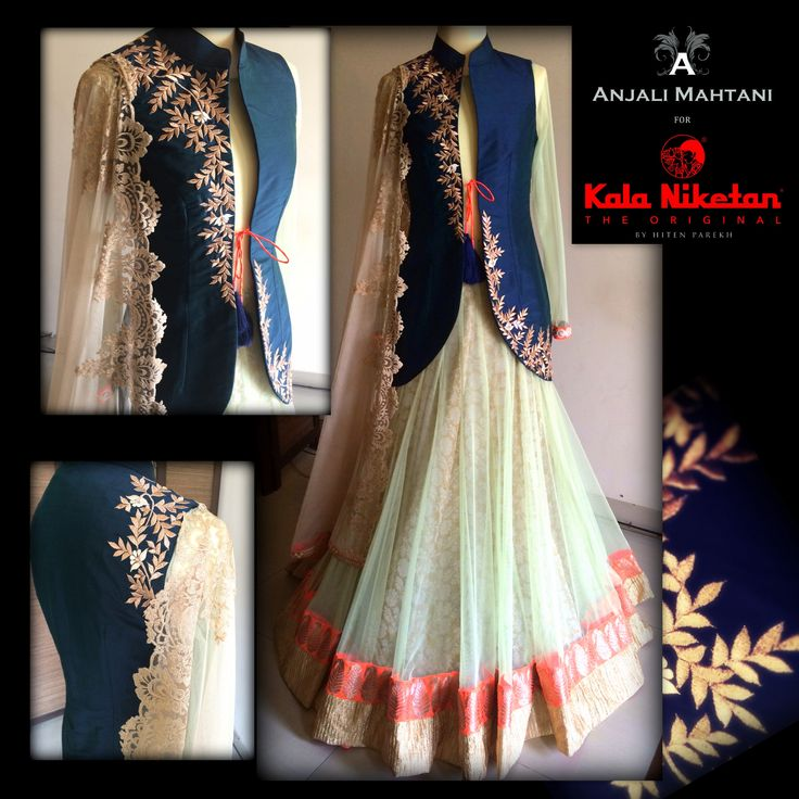 Embroidered Jacket Anarkali