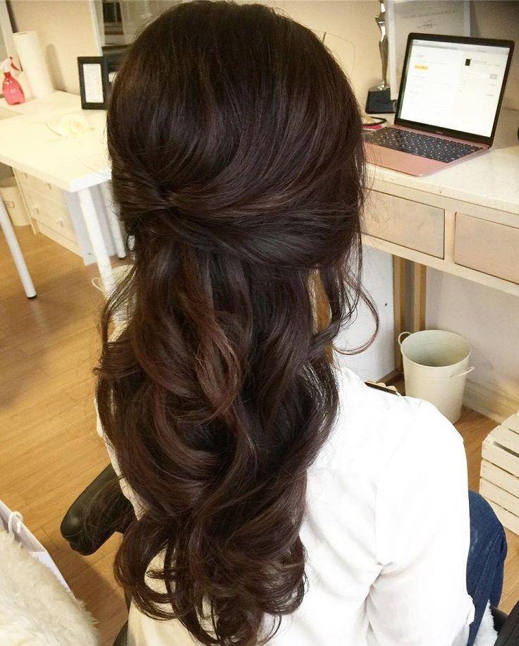 Part Updo Bridal Hairstyle - Half High Half Down Wedding Hairstyles #Weddinghai ... #Bride Hair #High #High #Hochsteck