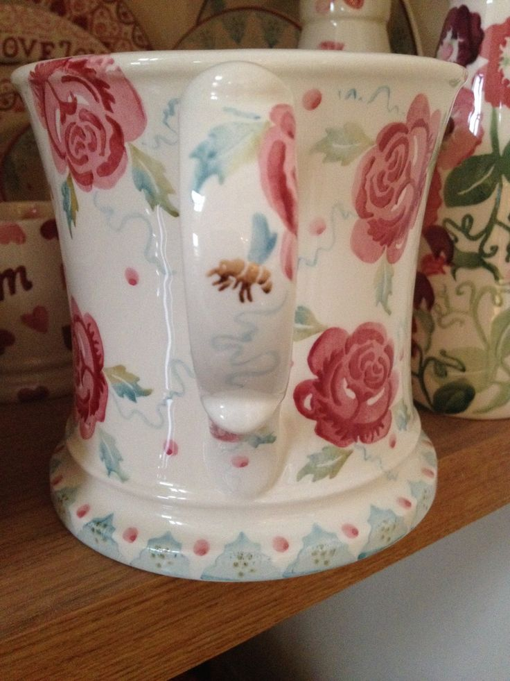 Emma Bridgewater Rose & Bee Personalised Two Handled Mug 2014