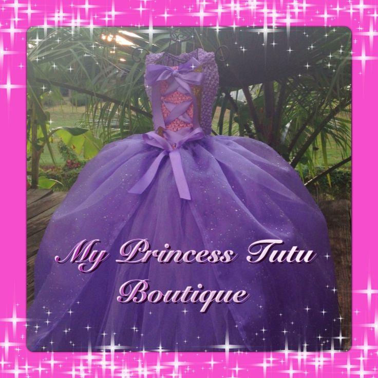 Tutu Rapunzel Dress vestito di Rapunzel di MyPrincessTutuBoutiq