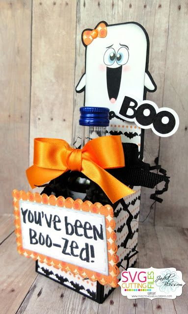 The Cricut Bug:You've Been Boo-Zed-Using Angled Side High Box and Chibi Halloween Ghost