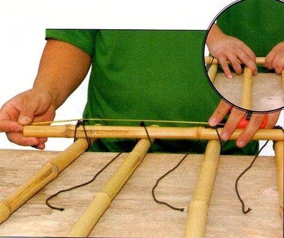 Como fazer uma treliça de bambu - Artesanato passo a passo!