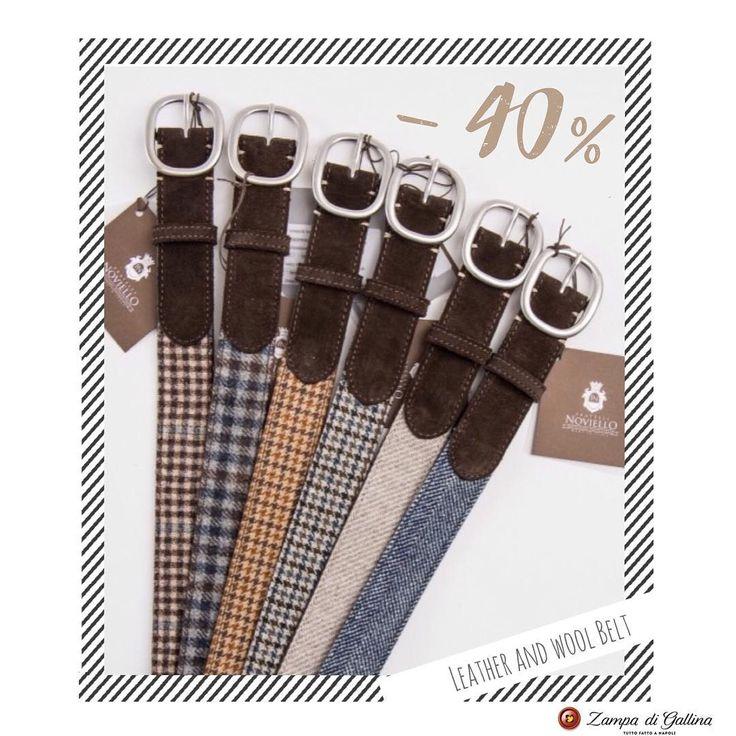 Fratelli Noviello wool and leather belts.  40% off! http://www.zampadigallina.com/belts.htm