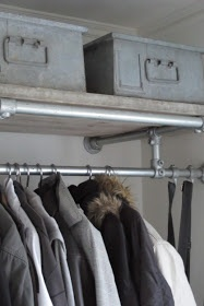 Industrial piping coat rack