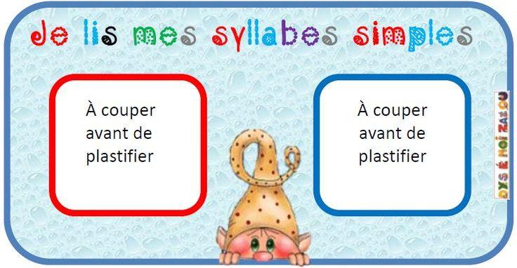 Jeu- Machines à syllabes- Quatre versions et deux niveaux