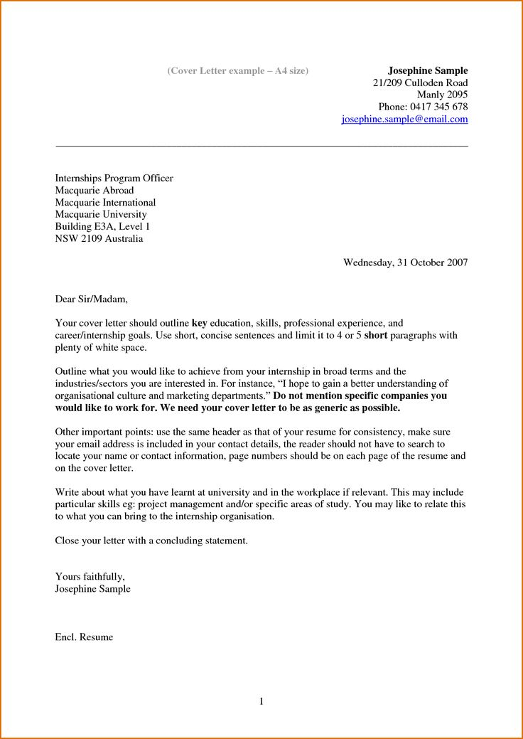 8 best work images on Pinterest Resume cover letters, Cover - what should a cover letter contain