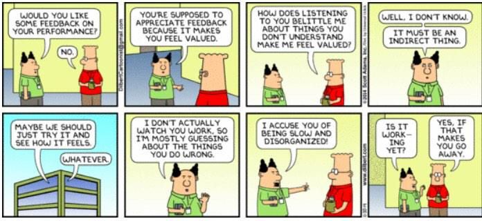 I Have Bad Credit And Need A Loan >> Dilbert - spot on again about feedback | Coaching | Pinterest